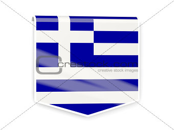 Flag label of greece