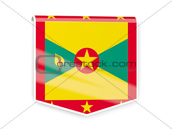 Flag label of grenada
