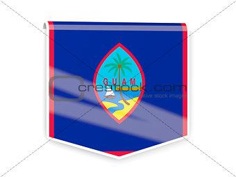 Flag label of guam