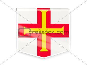 Flag label of guernsey
