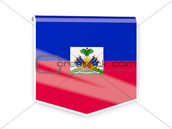 Flag label of haiti