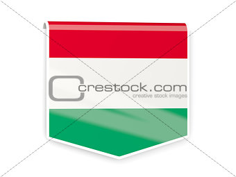Flag label of hungary