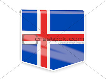 Flag label of iceland