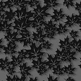 Vector Black Leaves 3d Seamless Pattern Background