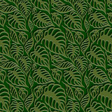 Vector Leaves 3d Seamless Pattern Background