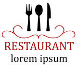 art restaurant icon for menu