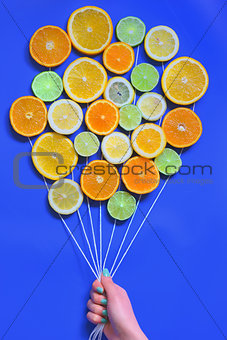 Abstract Citrus fruits  bouquet