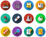 Set of school icons