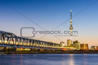 Tokyo River Skyline