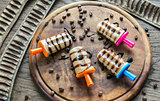 Coffee popsicles with chocolate topping