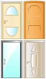 modern isolated doors set