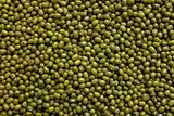 Dried green mung beans background