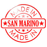 Made in San Marino red seal