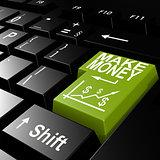 Make money word on the green enter keyboard