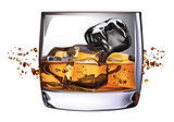 Whiskey Glass - Vector