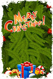 Grungy Merry Christmas Greeting Card