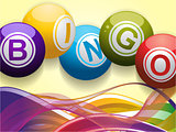 Bingo balls and waves background