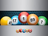 bingo balls ovea blue metallic plate