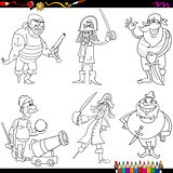 fantasy pirates cartoon coloring page