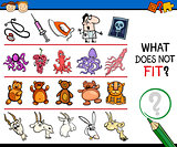 what does not fit cartoon game