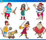 Pirates Cartoon Characters Set