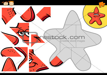 cartoon starfish jigsaw puzzle game