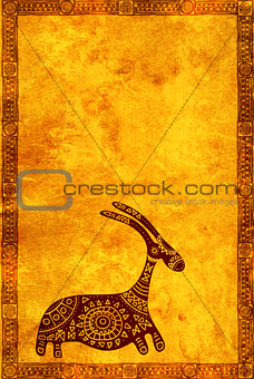 Background with African traditional animal