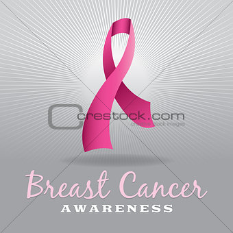 Breast Cancer Awareness Ribbon and Background
