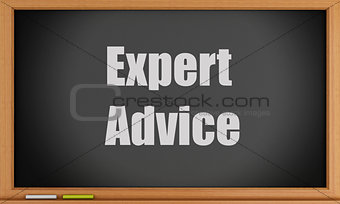 3d Expert Advice text on blackboard.