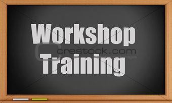 3d Workshop Training text on blackboard.