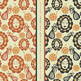 set of seamless pattern on thanksgiving