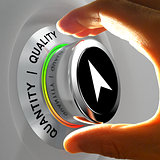Quality versus Quantity. Hand adjusting the level of items.