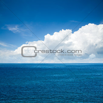 Beautiful Sea with Majestic Clouds