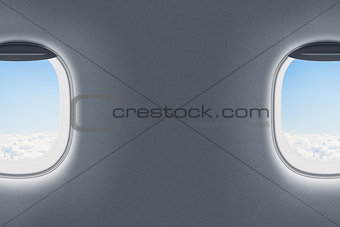 airplane or jet windows interior