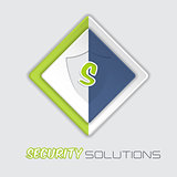 Security solutions advertising background