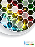 Cool brochure with hexagons and color plasma