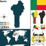 Map of Benin
