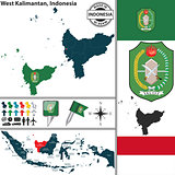 Map of West Kalimantan, Indonesia