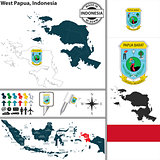 Map of West Papua, Indonesia