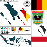Map of West Sumatra, Indonesia