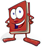 fun book cartoon on white background fun book cartoon on white b