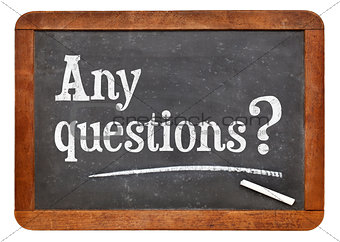 Any questions on blackboard