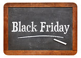 Black Friday blackboard sign