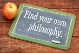 Find your own philosophy on blackboard