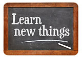Learn new things on blackboard
