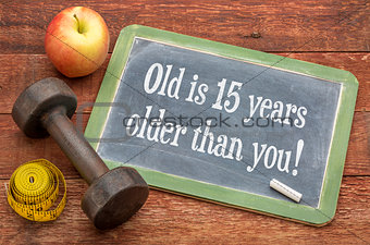 Old is 15 years older than you on blackboard