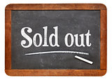 Sold out blackboard sign