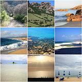 Collage of beautiful Sardinia Italy