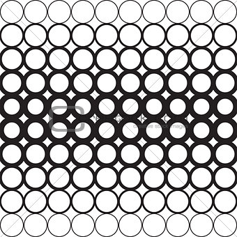 Abstract circles with a dedicated Central geometric background