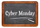 Cyber Monday blackboard sign